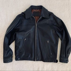 Valentino Motorcycle Jacket Black Leather Rockstud